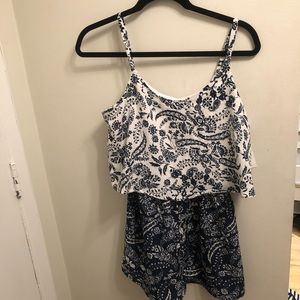 Two Toned Paisley ROMPER